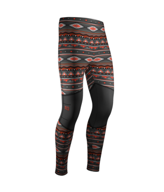 so solid leggings native red