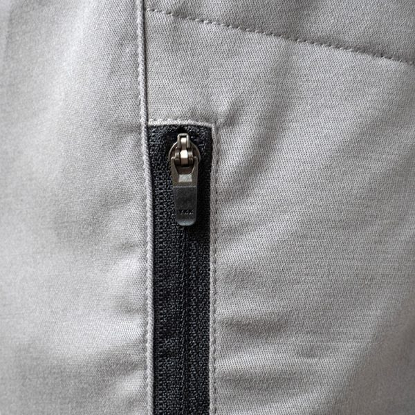 Detail of zipper pocket - with zipper that locks in position